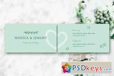 Monica Wedding Business Card Template