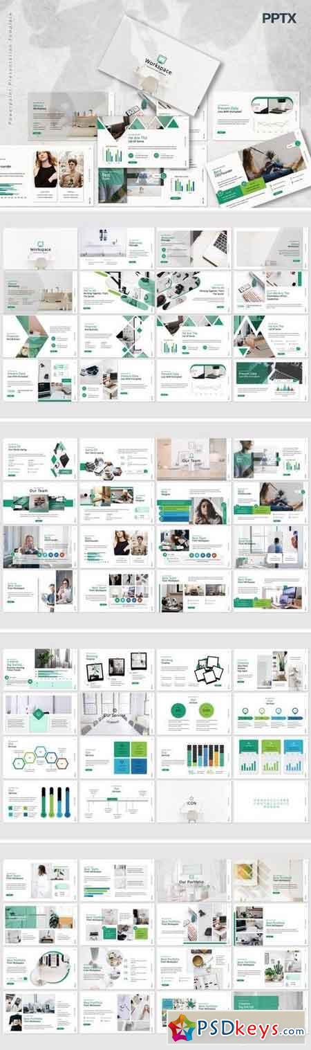 Workspace - Powerpoint, Keynote, Google Sliders Templates