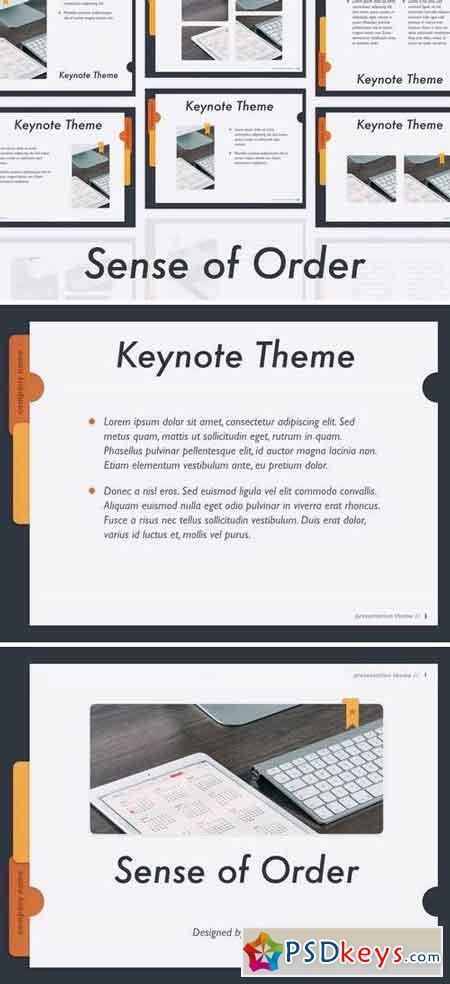 Sense of Order Keynote Template