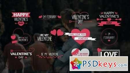 Valentine's Day Titles 166616 After Effects Projects