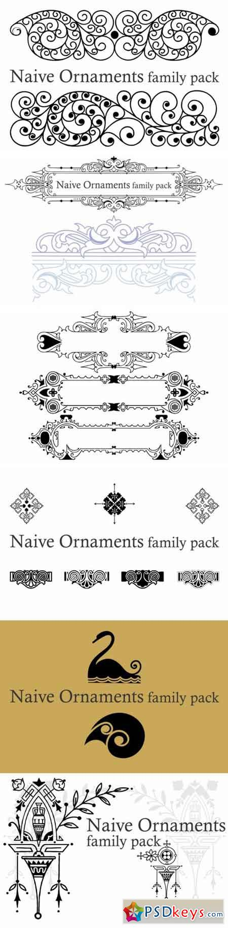 Naive Ornaments Family 13737