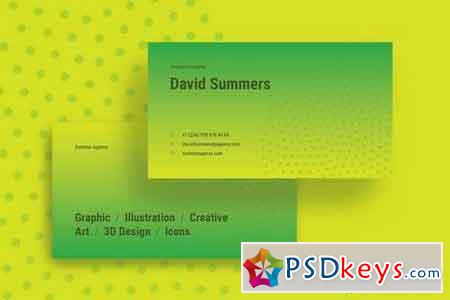 Summer Creative Business Card Template