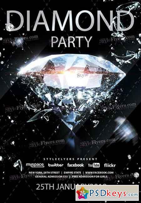 Diamond PSD Flyer Template