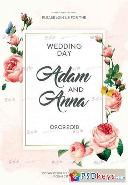Wedding Day 10 PSD Flyer Template