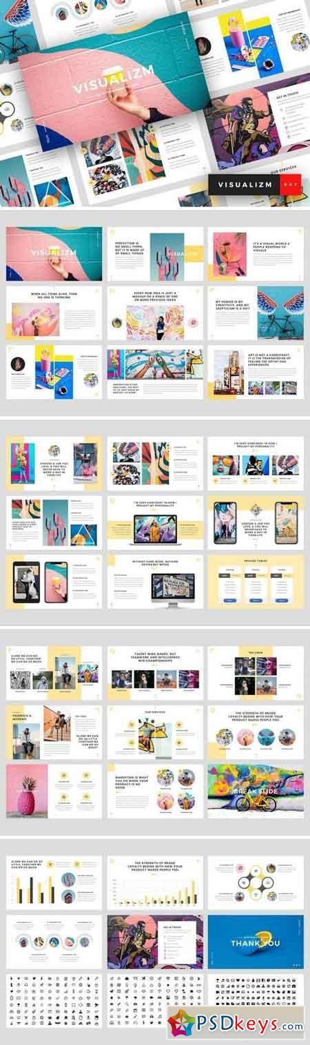 Visualizm - Pop Art & Graffiti Powerpoint, Keynote, Google Sliders Templates