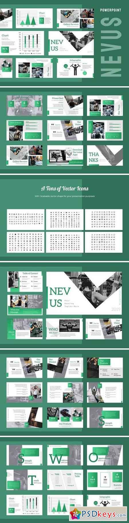 Nevus Gym - Powerpoint, Keynote, Google Sliders Templates