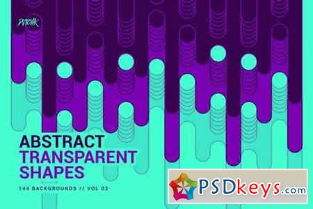 Abstract Transparent Rounded Shapes Vol. 02