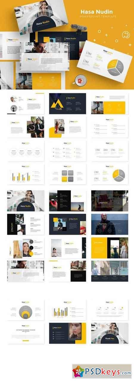 Hasanudin - Powerpoint, Keynote, Google Sliders Templates