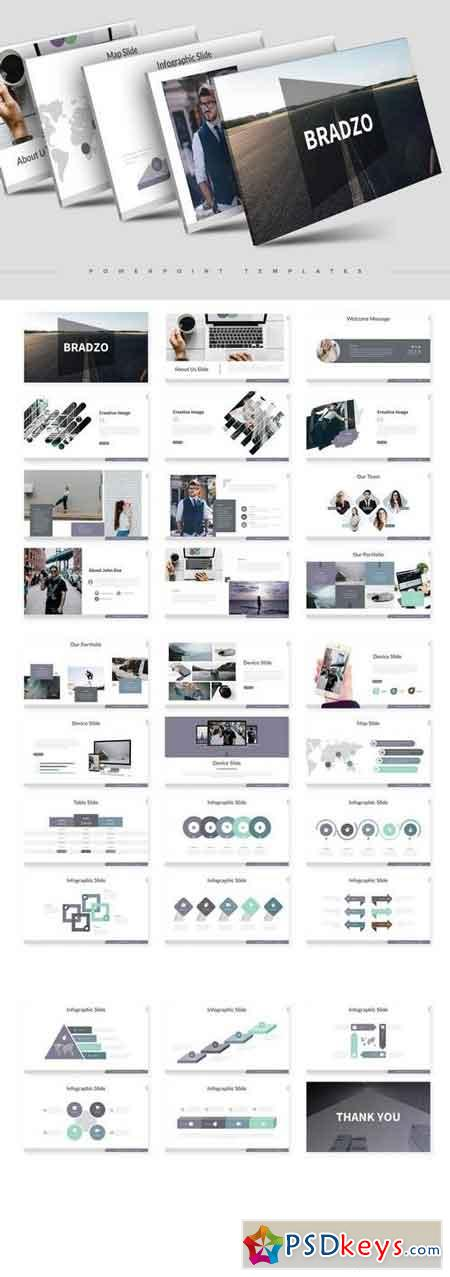 Bradzo - Powerpoint, Keynote, Google Sliders Templates