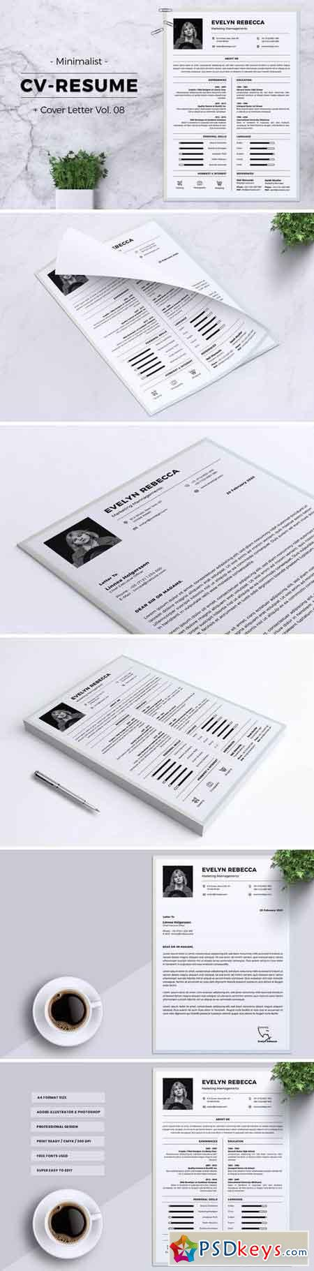 Minimalist CV Resume Vol. 08