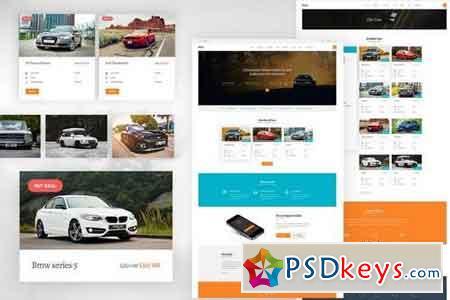 Car Rental - Creative eCommerce Photoshop Template