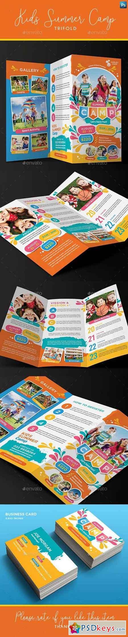 Kids Summer Camp Trifold + Business Card 23196331