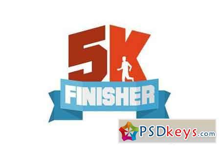 5k finisher running badge