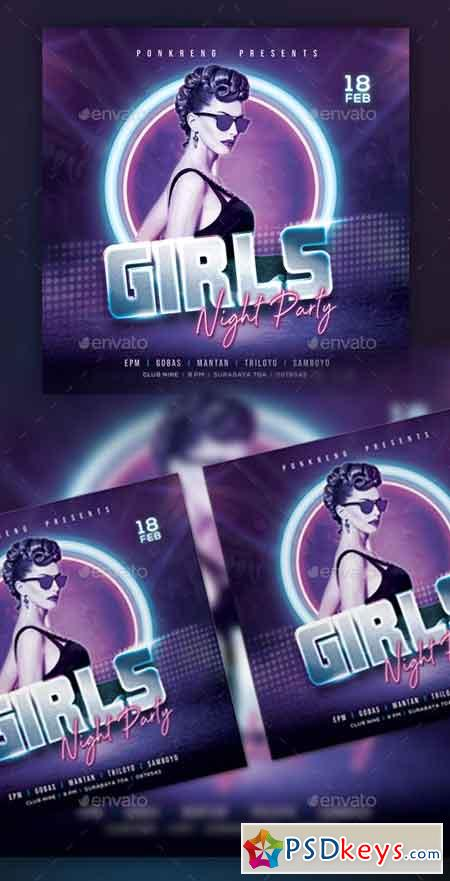 Girls Night Party Flyer 23151131