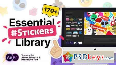 Essential Stickers Library 21180366 After Effects Projects