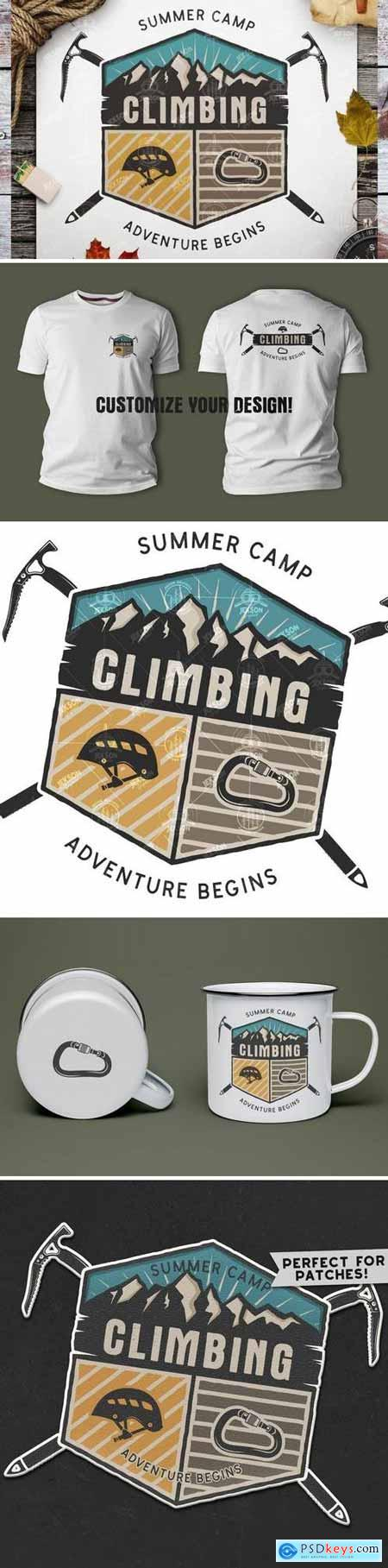 Travel Retro Badge Vintage Climbing Logo Patch