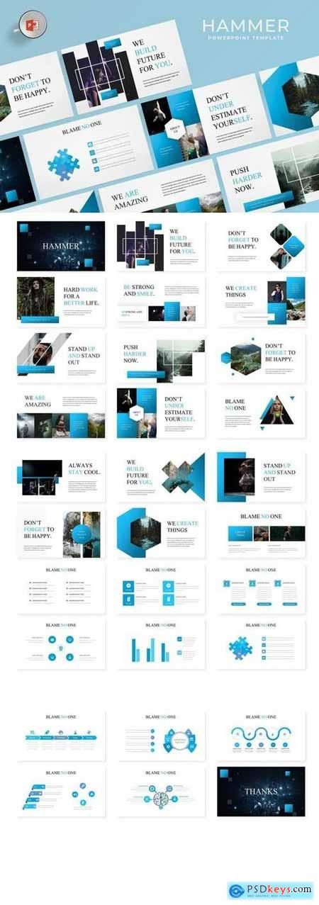 Hammer - Hotel Powerpoint, Keynote, Google Sliders Templates