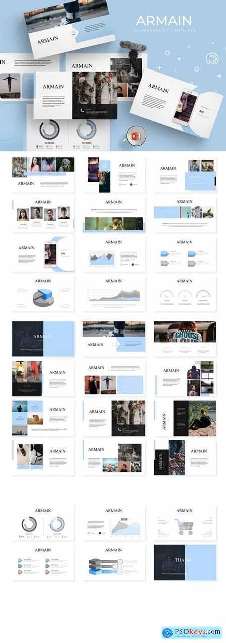Armain - Powerpoint, Keynote, Google Sliders Templates