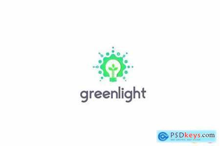 Green Light Technology Logo Template