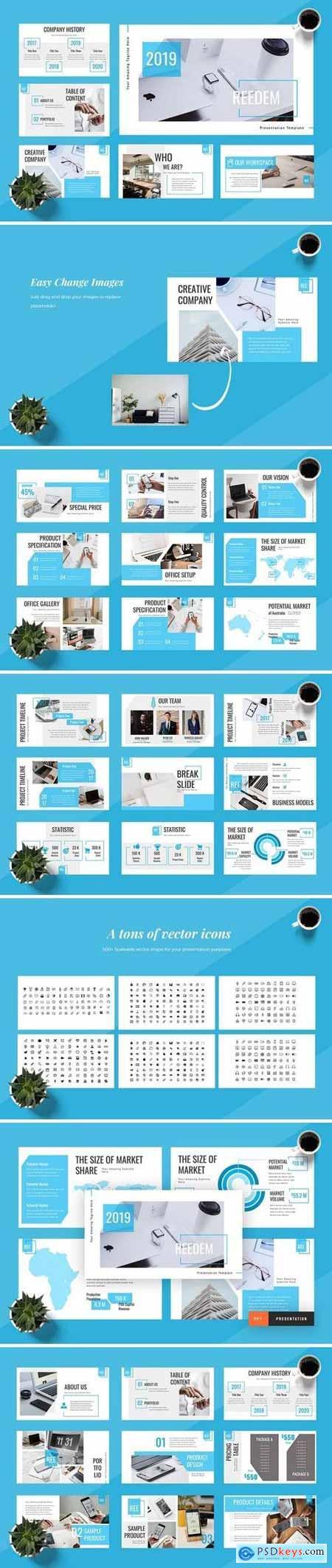 Redeem - Hotel Powerpoint, Keynote, Google Sliders Templates