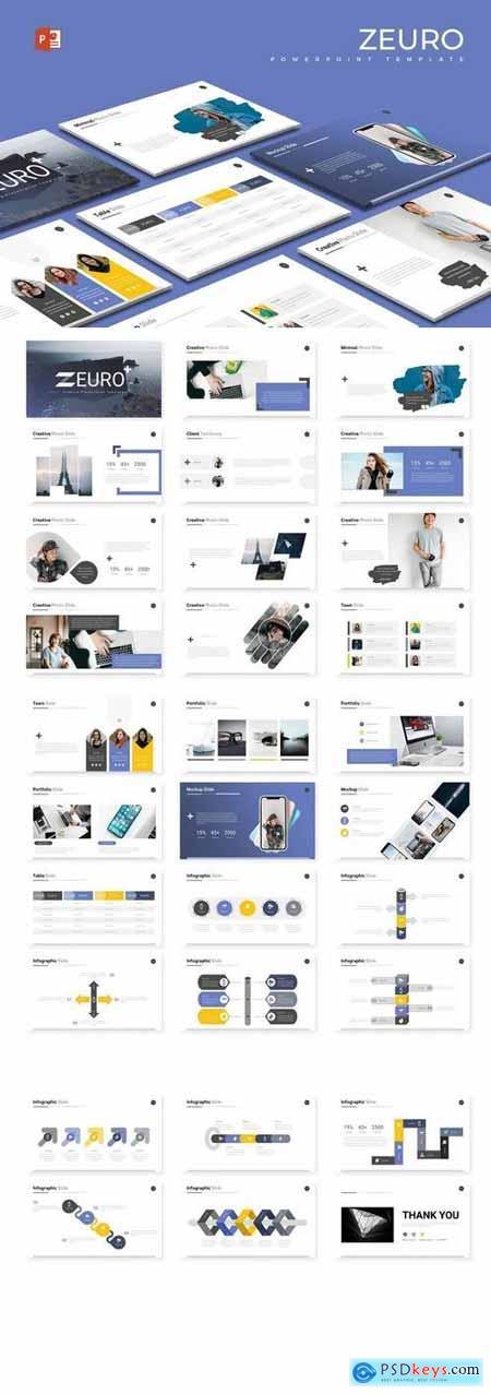 Zeuro - Hotel Powerpoint, Keynote, Google Sliders Templates