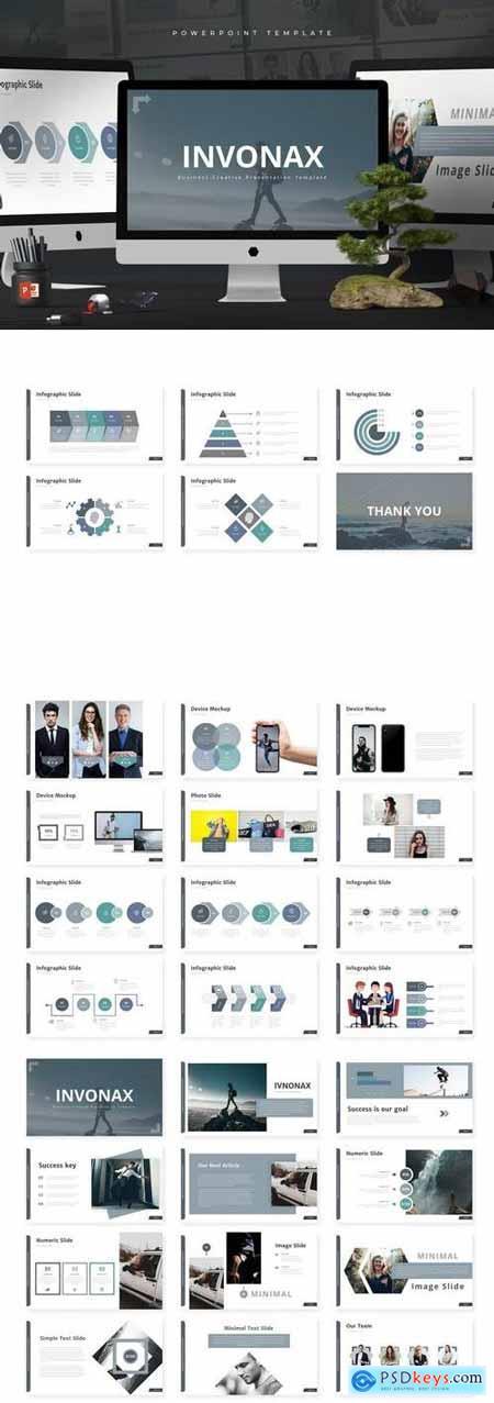 Invonax - Powerpoint, Keynote, Google Sliders Templates