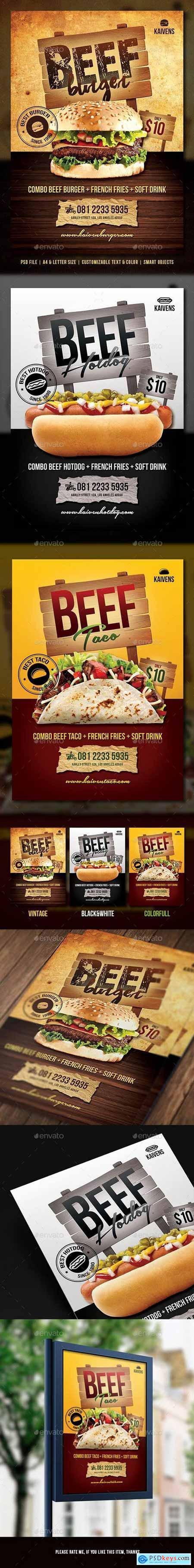 Food Menu Flyer 14591785