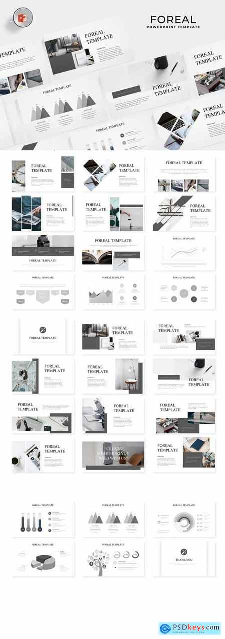 Foreal - Powerpoint, Keynote, Google Sliders Templates