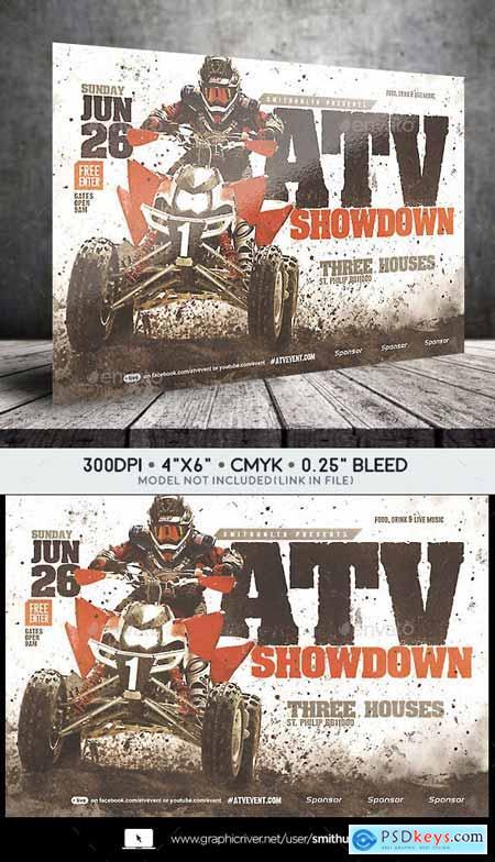 ATV Motocross Showdown Flyer - Horizontal 23148382