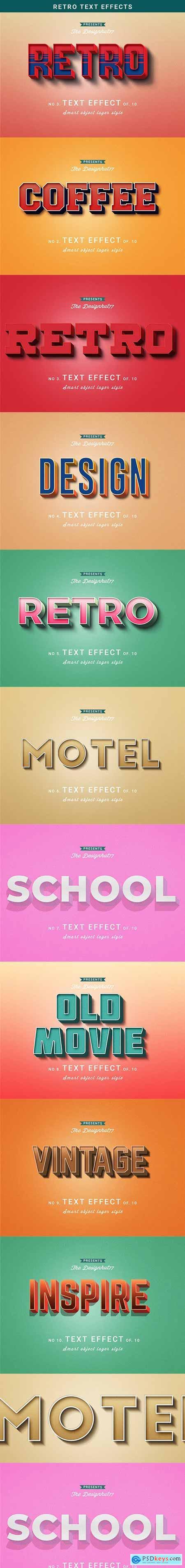 Retro Text Effect 23149015