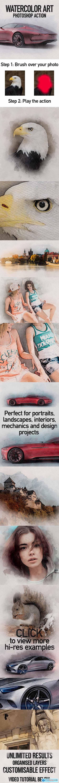 Watercolor Art Photoshop Action 23097800