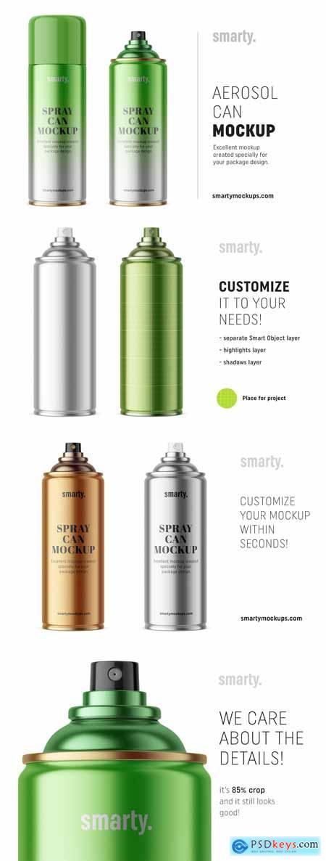 Metallic aerosol can mockup 3368002