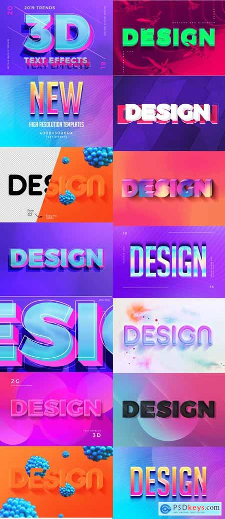 3D Text Effects 2019 Trends 3350196