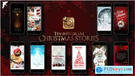 Videohive 10 Instagram Christmas Stories 22994870 After Effects Project