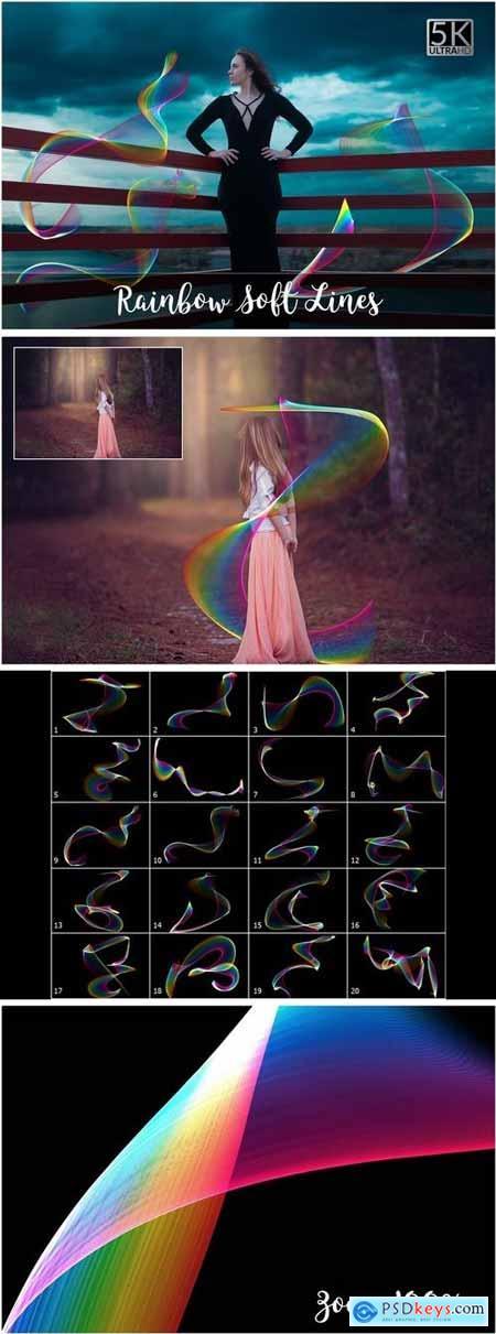 5K Rainbow Soft Lines Overlays 2140462