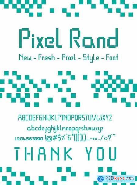 Pixel Rand Font