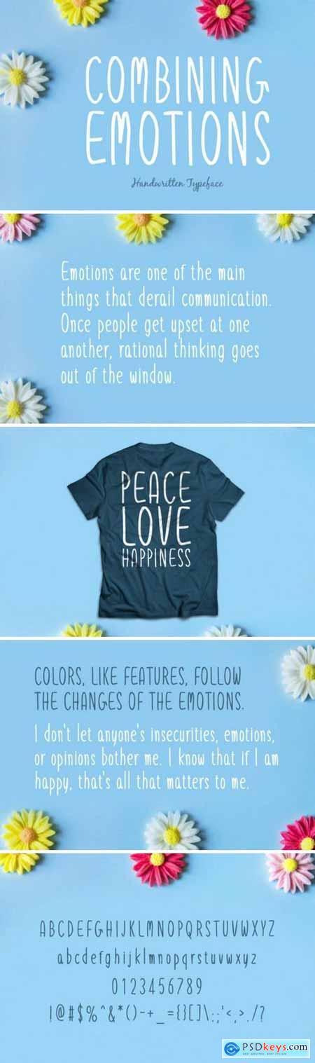 Combining Emotions Font
