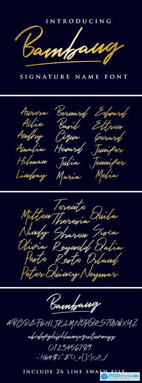 Bambang - Signature Font 3397475