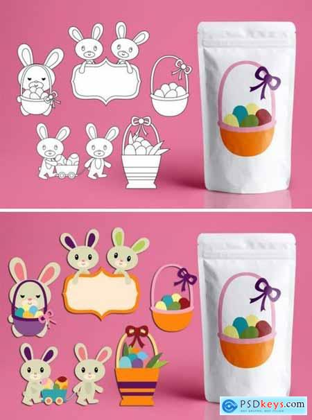 Easter basket and bunny