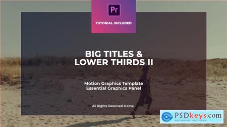 Big Titles & Lower Thirds II MOGRT 23049584 Premiere Pro Template