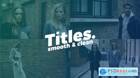 Smooth Clean Titles 20891086 After Effects Projects