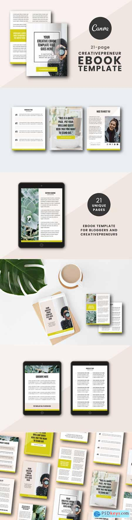 Creativepreneur eBook Canva Template 3412765