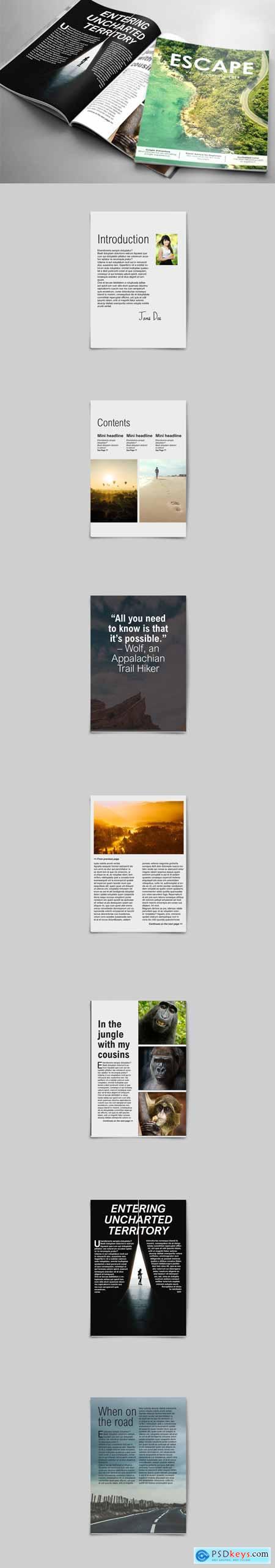 ESCAPE, 10 Page Magazine Template 3406119