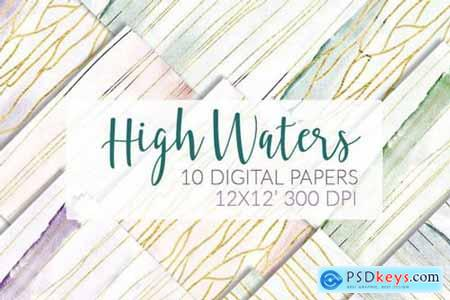 Airy watercolor papers Marble+Gold