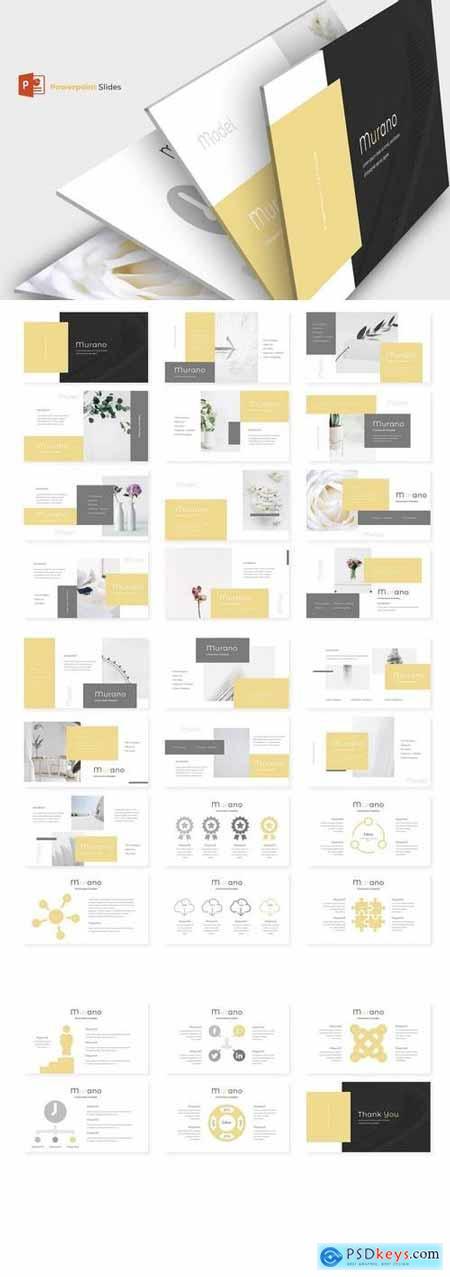 Murano - Hotel Powerpoint, Keynote, Google Sliders Templates