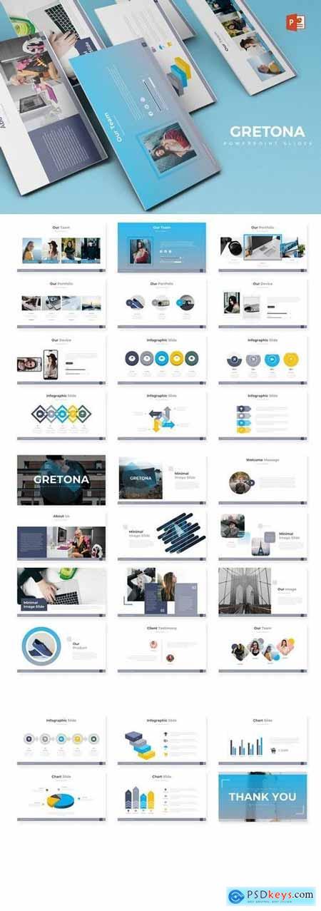 Gretona - Hotel Powerpoint, Keynote, Google Sliders Templates