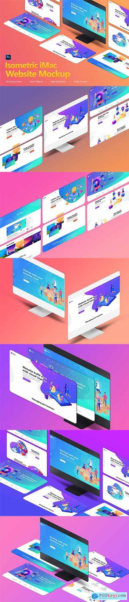 Isometric iMas Website Mockup
