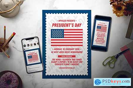 President's Day Flyer Set