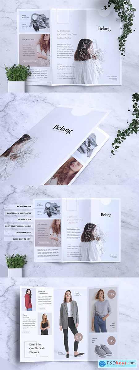BELONG Fashion Trifold Flyer