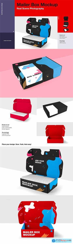 Craft Mailer Box Mockup